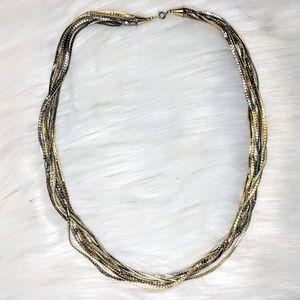 Jewelry - 10 Strand Gold & Silver Chain
